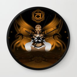 Inner Light: Spleen Chakra Wall Clock