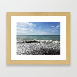 Postcard from the sea (2) Framed Art Print