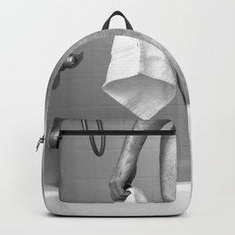 White Hand Towel Backpack