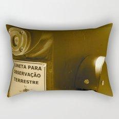 Spyglass to land observation Rectangular Pillow