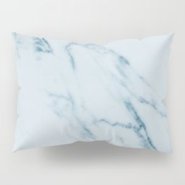 Teal Swirl Marble Pillow Sham