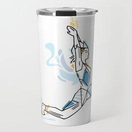 Yoga geometric asanas - low lunge pose Travel Mug