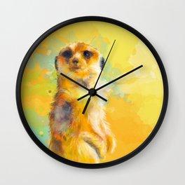 Dear Little Meerkat Wall Clock