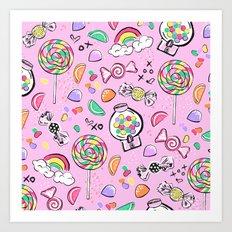 Cute Little Candies Art Print