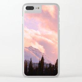 Rose Quartz Turbulence Clear iPhone Case