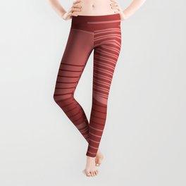 Geometric Minimal - Terracotta Leggings