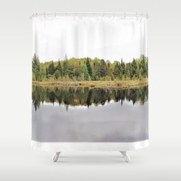 When A Tree Falls In The Forest: Soundwave Shower Curtain
