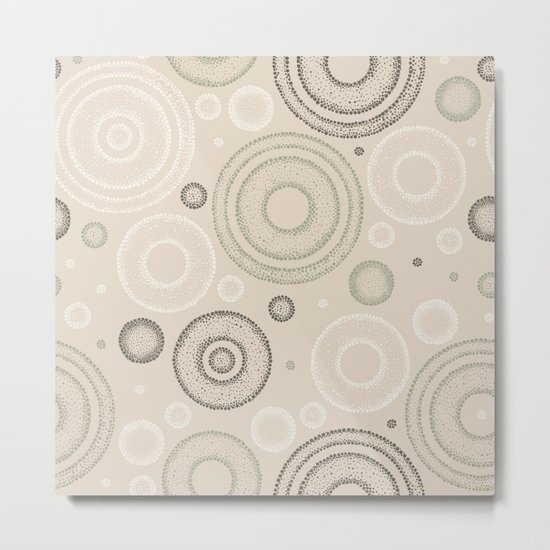 Retro Dotted Pattern 03 Metal Print