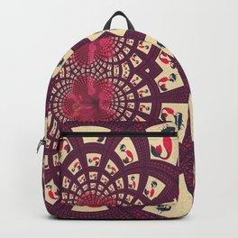 Retro Mermaid Floral Fractal Backpack