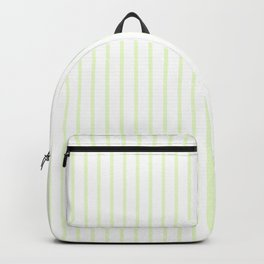 Pale Cucumber Pin Stripe on White Backpack