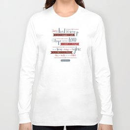 """Hope in the Lord"" Hand-Lettered Bible Verse Long Sleeve T-shirt"