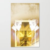 actor Canvas Prints featuring Robert Pattinson - Actor by Sherazade's Graphics