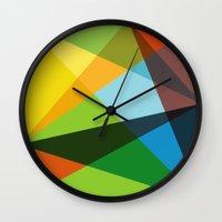 kaleidoscope Wall Clocks featuring Kaleidoscope by Marina Design