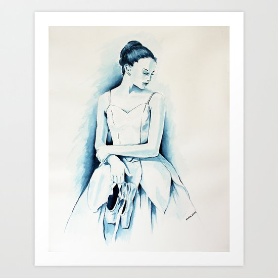 Ballerina Dancer Art Print