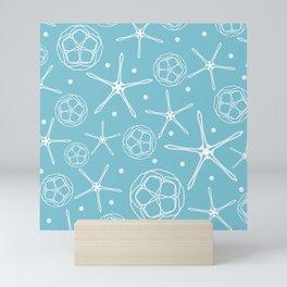 White Pearl Starfish Mini Art Print