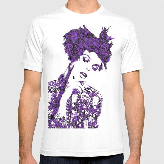 Purple Fashion Floral T-shirt