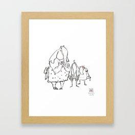 Anxious Elephants Framed Art Print