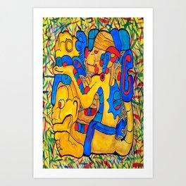 MAYAN MONKEY SPIRIT Art Print