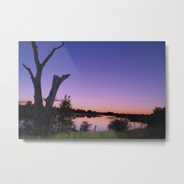 Purple Lake Metal Print