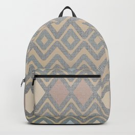 Woven Geometry - Fabric ZigZag Pattern Pastel Backpack