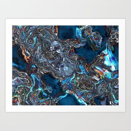 Abstract Waves of Color Art Print