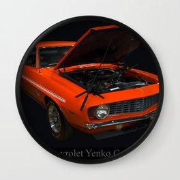 1969 Chevy Yenko Camaro Sc Wall Clock