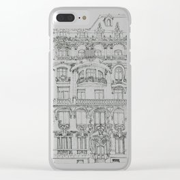 the face of Paris Clear iPhone Case