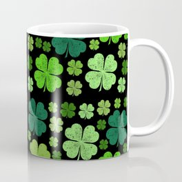 Saint Patrick's Day, Four Leafed Clovers - Green Coffee Mug