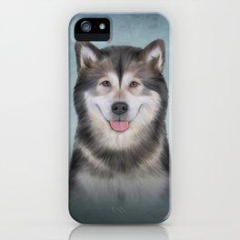 Drawing Dog Alaskan Malamute 12 iPhone Case