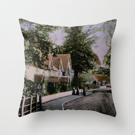 1900 Canford Magna village Dorset England Throw Pillow