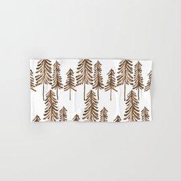 Pine Trees – Sepia Palette Hand & Bath Towel