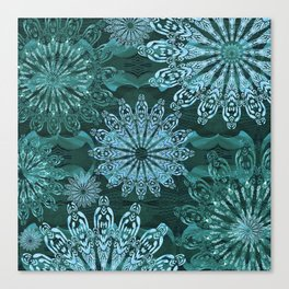 High Definition Mandala Ice Crystals Canvas Print