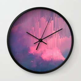 Sweet Stormy Glitches Wall Clock