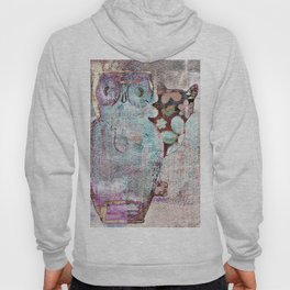 The Owl and the Calico Cat Hoody