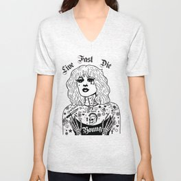 Live Fast, Die Young Unisex V-Neck