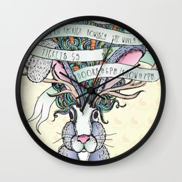 Paper Jam '15 by Maisie Cross Wall Clock