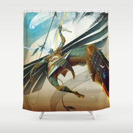 Battle of Horus and God the Father Shower Curtain