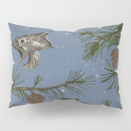 FLYING SQUIRRELS IN THE PINES (twilight) Pillow Sham