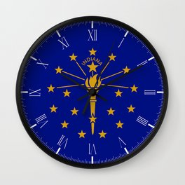 Indians State Flag Wall Clock