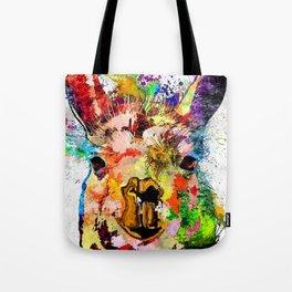 Llama Grunge Tote Bag