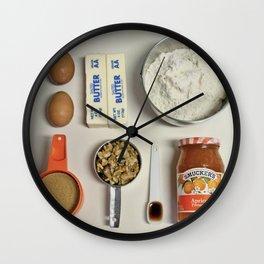 Apricot bars Wall Clock