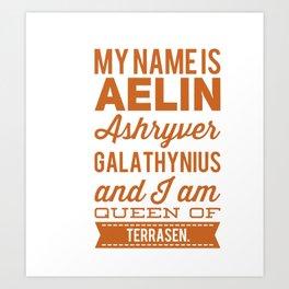 Aelin Art Print