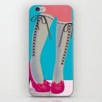 socks iPhone & iPod Skins featuring Socks by Heidi Sturgess