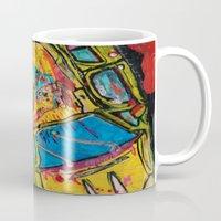 wreck it ralph Mugs featuring Car Wreck by C Z A V E L L E