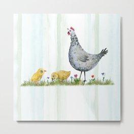 Fun on the Farm: Rooster Metal Print