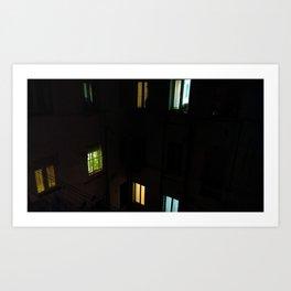 Live at night Art Print