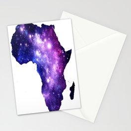 Africa : Purple Blue Galaxy Stationery Cards