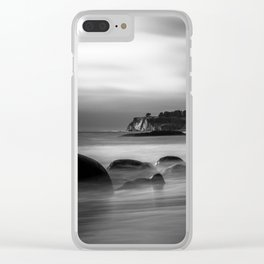 Just Another Beach Bowling Ball Beach hig tide Clear iPhone Case
