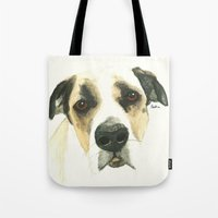 floyd Tote Bags featuring Floyd by Carolyn Campbell