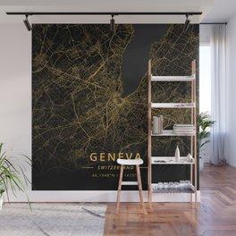 Geneva, Switzerland - Gold Wall Mural
